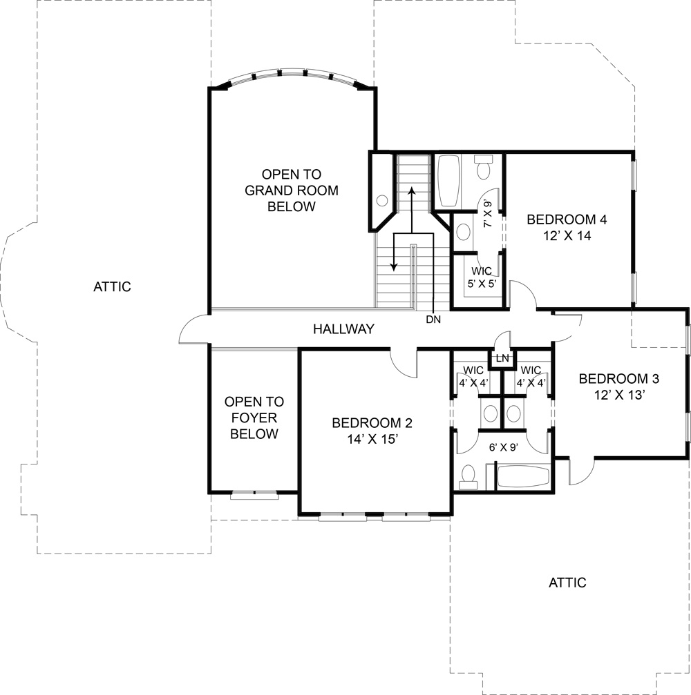 Second Floor Plan image of Featured House Plan: BHG - 5989