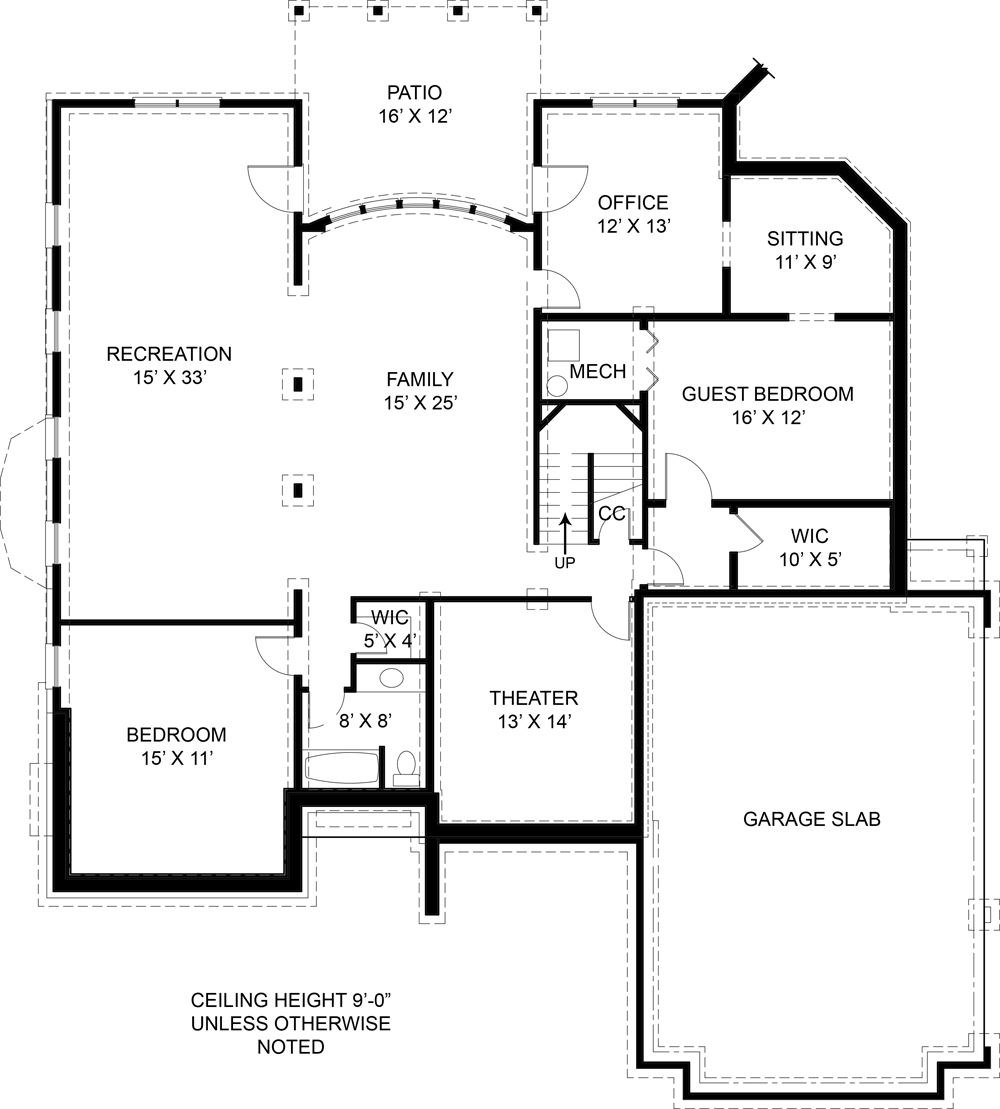 Basement image of Featured House Plan: BHG - 5989