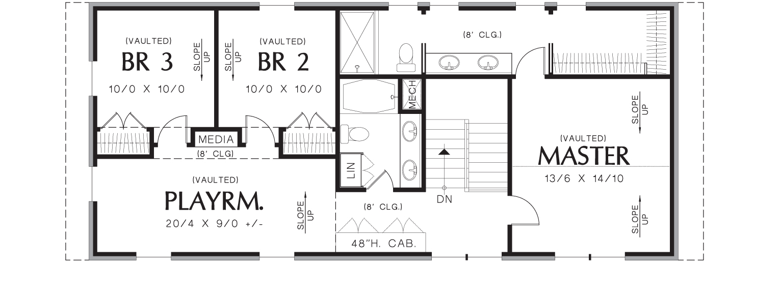 Upper Floor Plan image of Featured House Plan: BHG - 3152