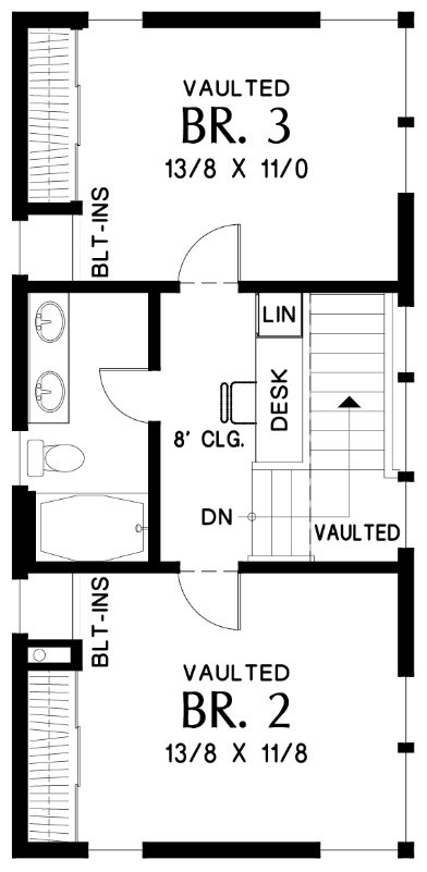 2nd Floor Plan image of Featured House Plan: BHG - 1903