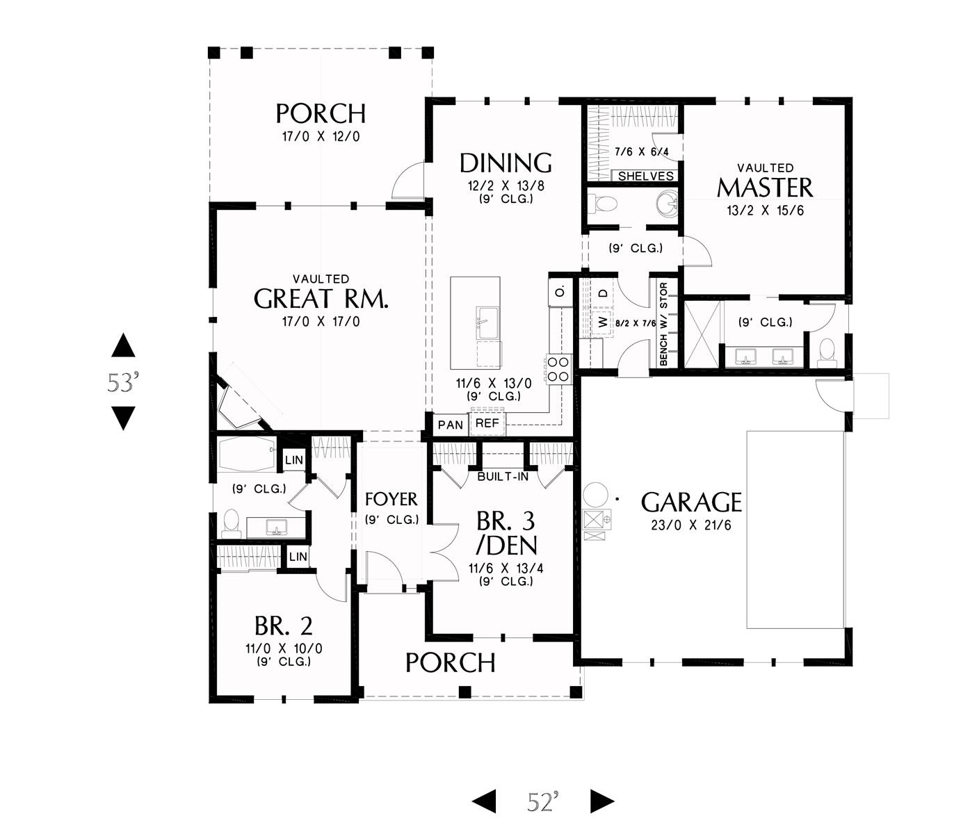 1st floor plan image of Featured House Plan: BHG - 8317
