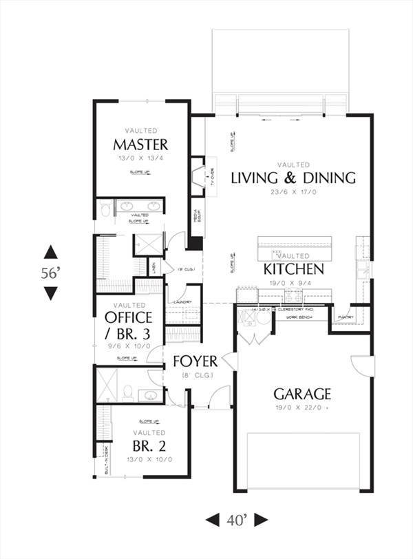 First Floor image of Featured House Plan: BHG - 3085