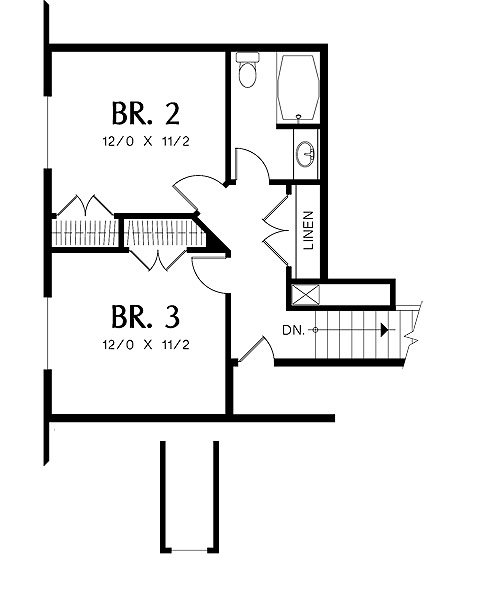 Second Floor Plan image of Featured House Plan: BHG - 5269