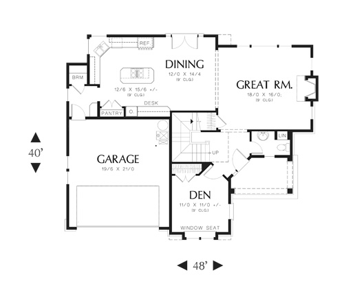First Floor Plan image of Featured House Plan: BHG - 5950
