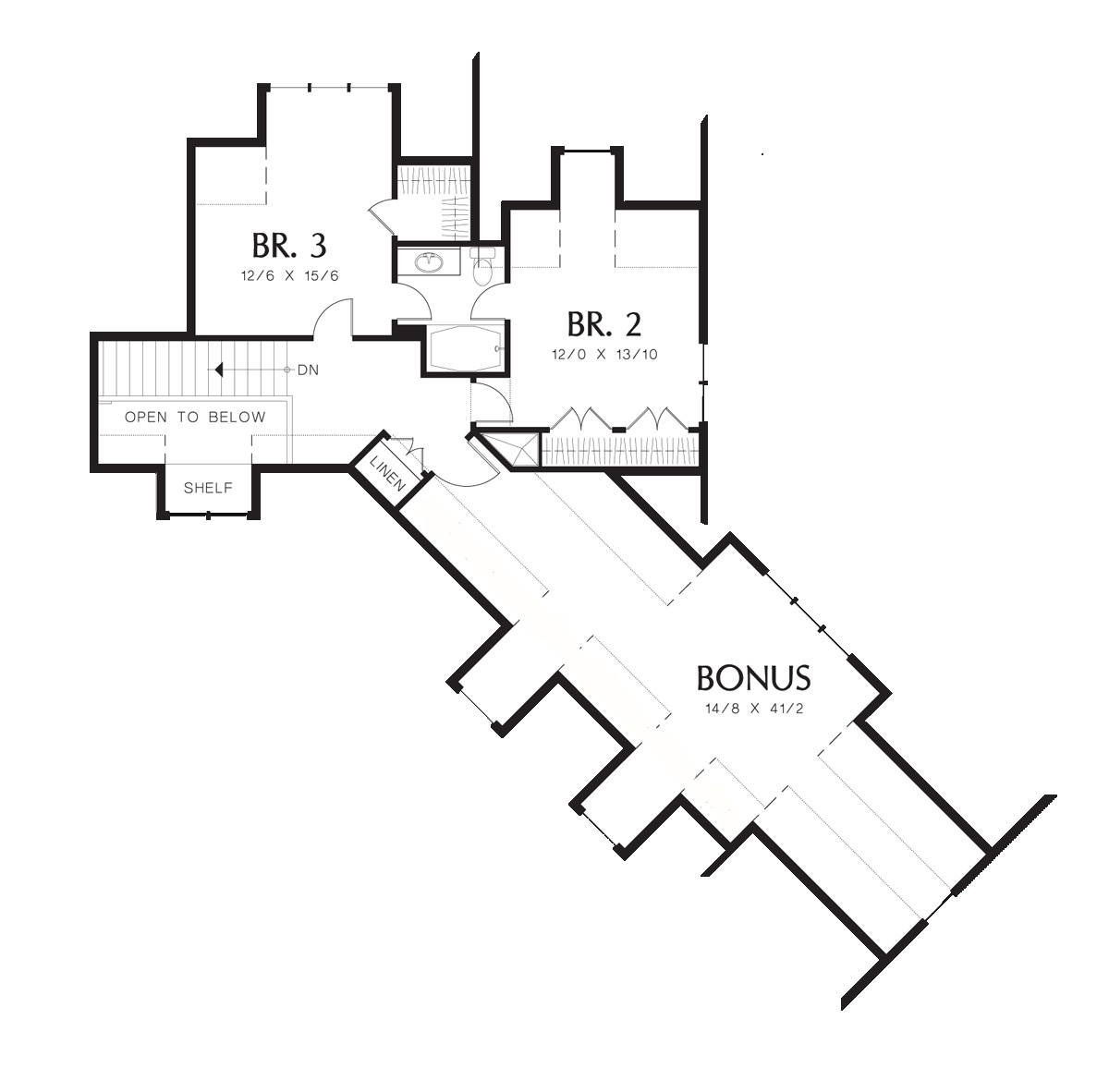 Second Floor Plan image of Featured House Plan: BHG - 5902