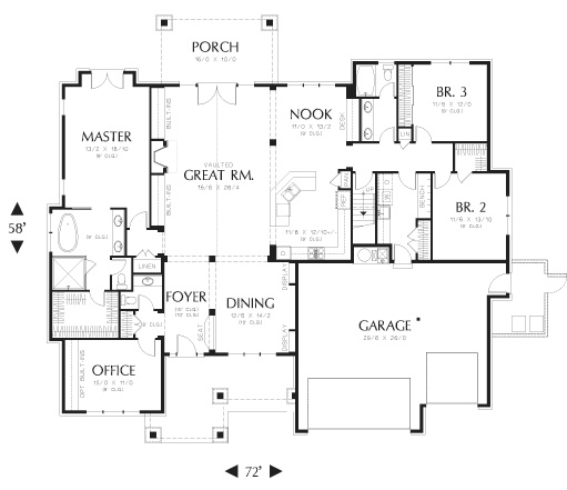 First Floor Plan image of Featured House Plan: BHG - 8290