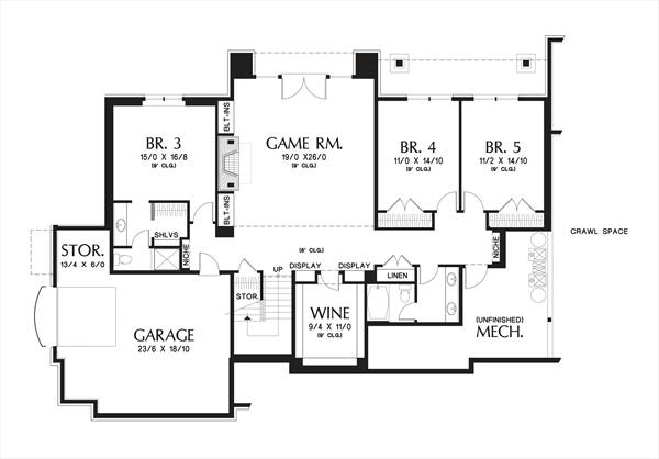 Lower Floor Plan image of Featured House Plan: BHG - 4298