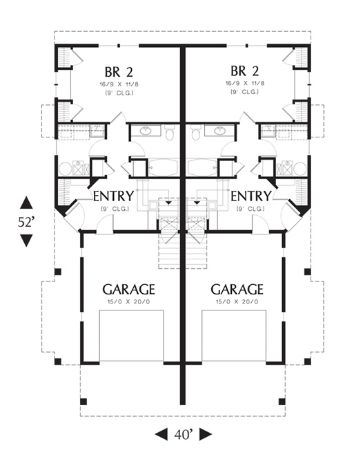 Lower Floor Plan image of Featured House Plan: BHG - 4271