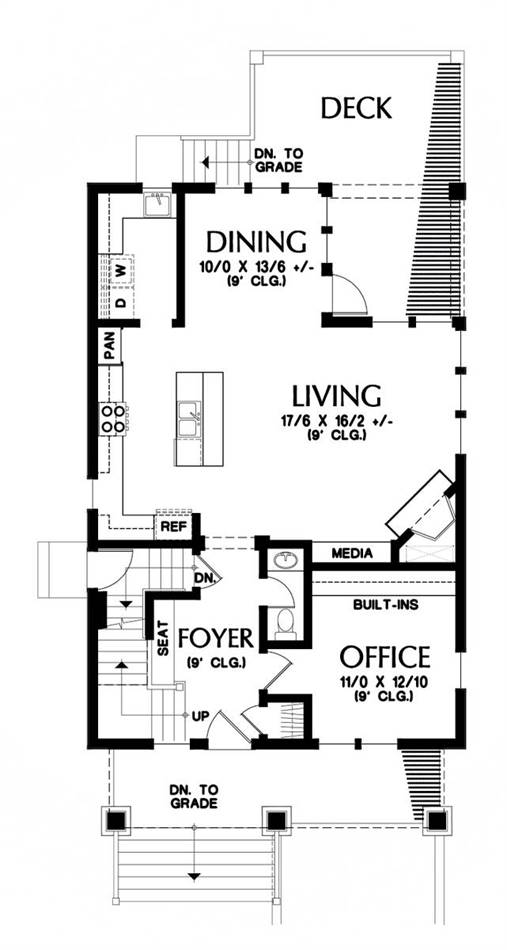 Main Floor Plan image of Featured House Plan: BHG - 1926