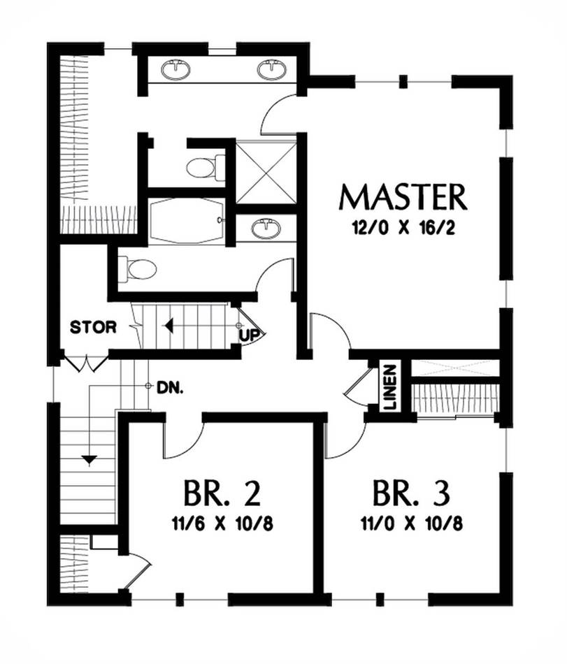 Upper Floor Plan image of Featured House Plan: BHG - 1926