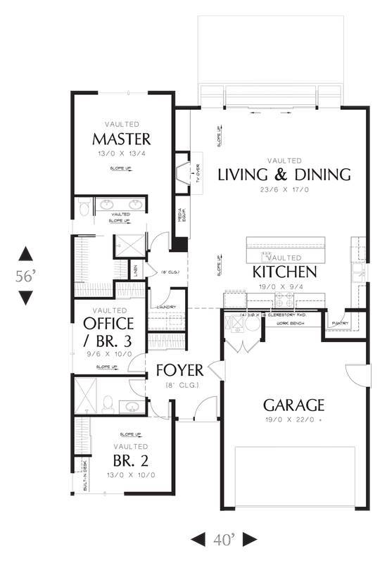 Main Floor Plan image of Featured House Plan: BHG - 3085