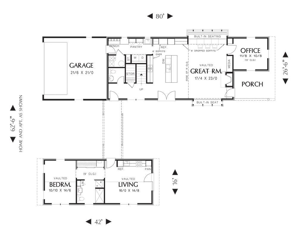 Main Floor Plan image of Featured House Plan: BHG - 3152