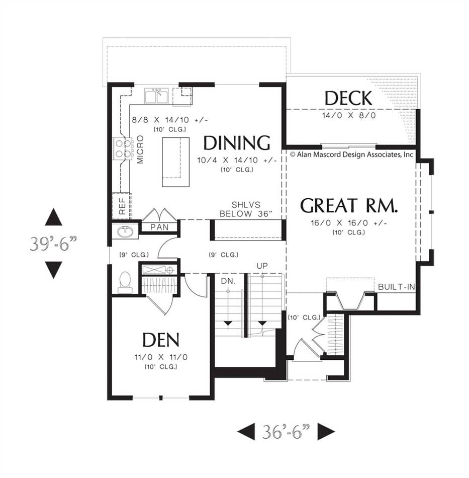 Main Floor Plan image of Featured House Plan: BHG - 4186