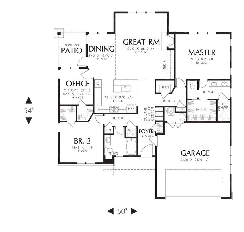 Main Floor Plan image of Featured House Plan: BHG - 4272