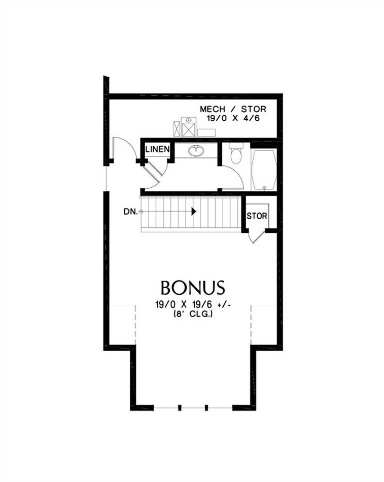 Upper Floor Plan image of Featured House Plan: BHG - 4809