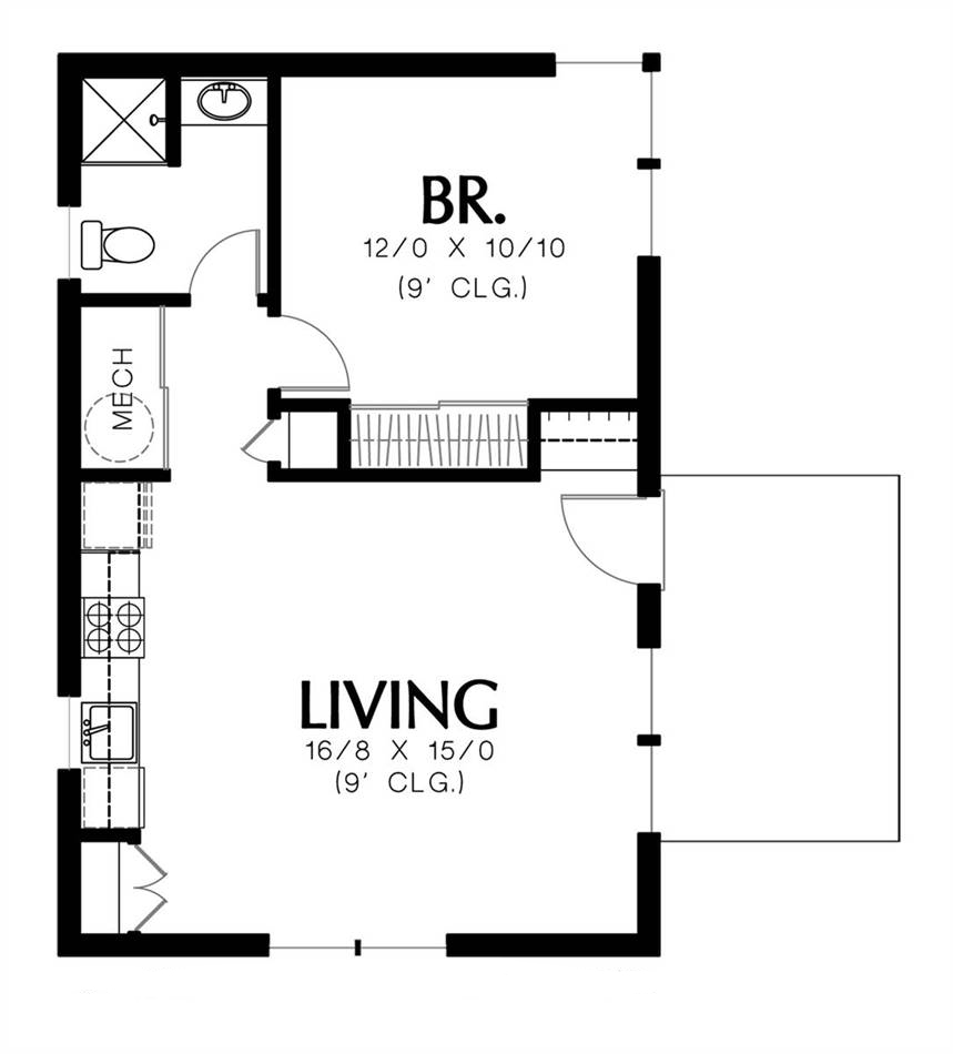 Main Floor Plan image of Featured House Plan: BHG - 5171
