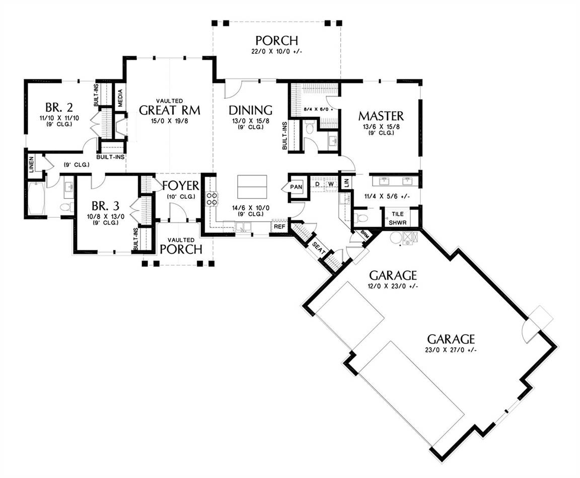 Main Floor Plan image of Featured House Plan: BHG - 5299