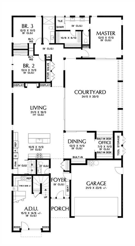 Main Floor Plan image of Featured House Plan: BHG - 5354