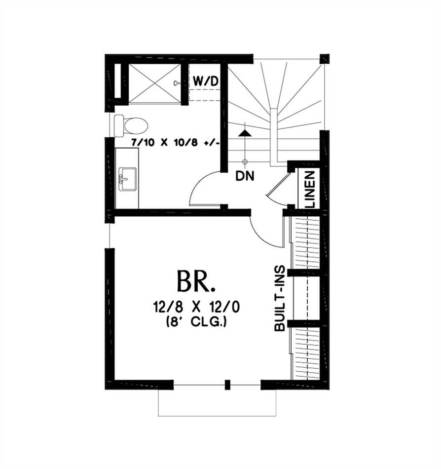 Upper Floor Plan image of Featured House Plan: BHG - 5354