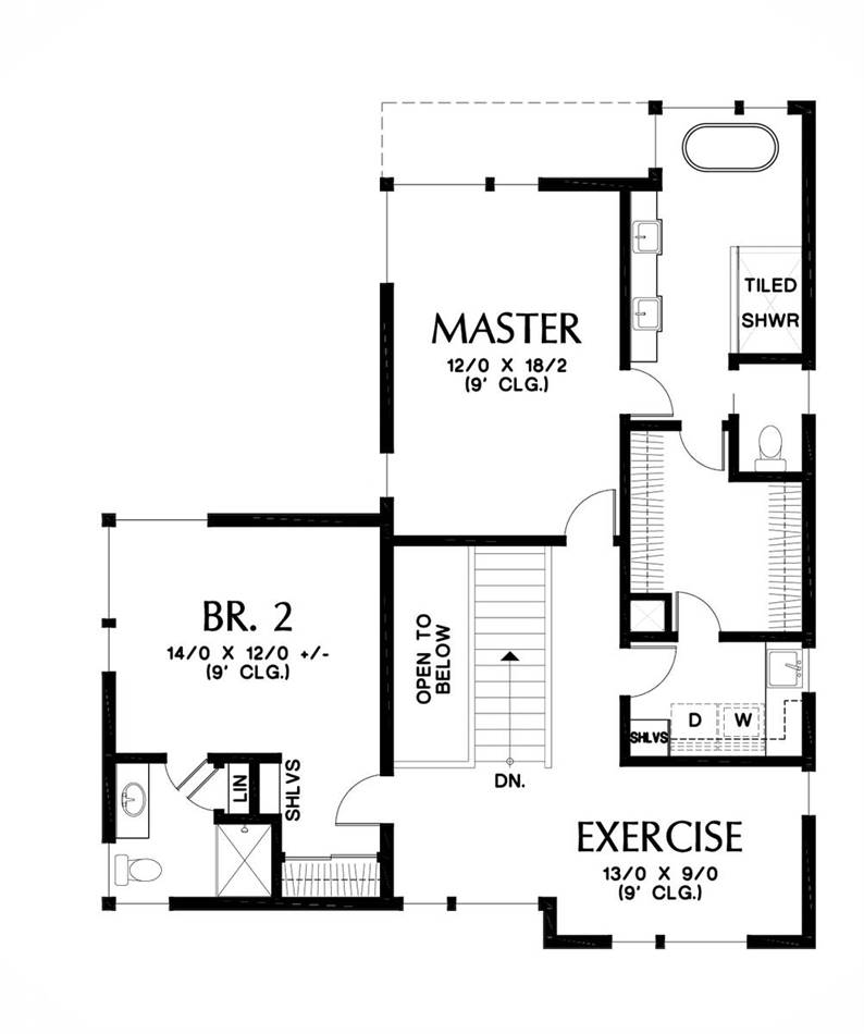 Upper Floor Plan image of Featured House Plan: BHG - 5586