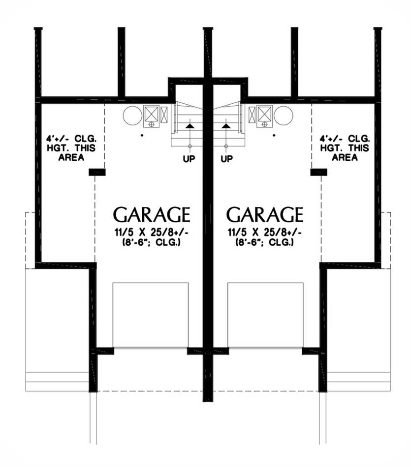 Lower Floor Plan image of Featured House Plan: BHG - 5597