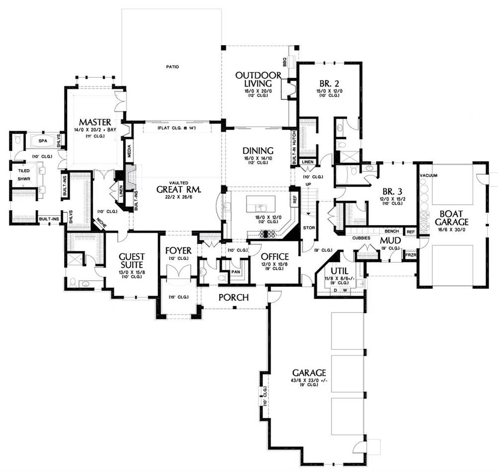 Main Floor Plan image of Featured House Plan: BHG - 5598