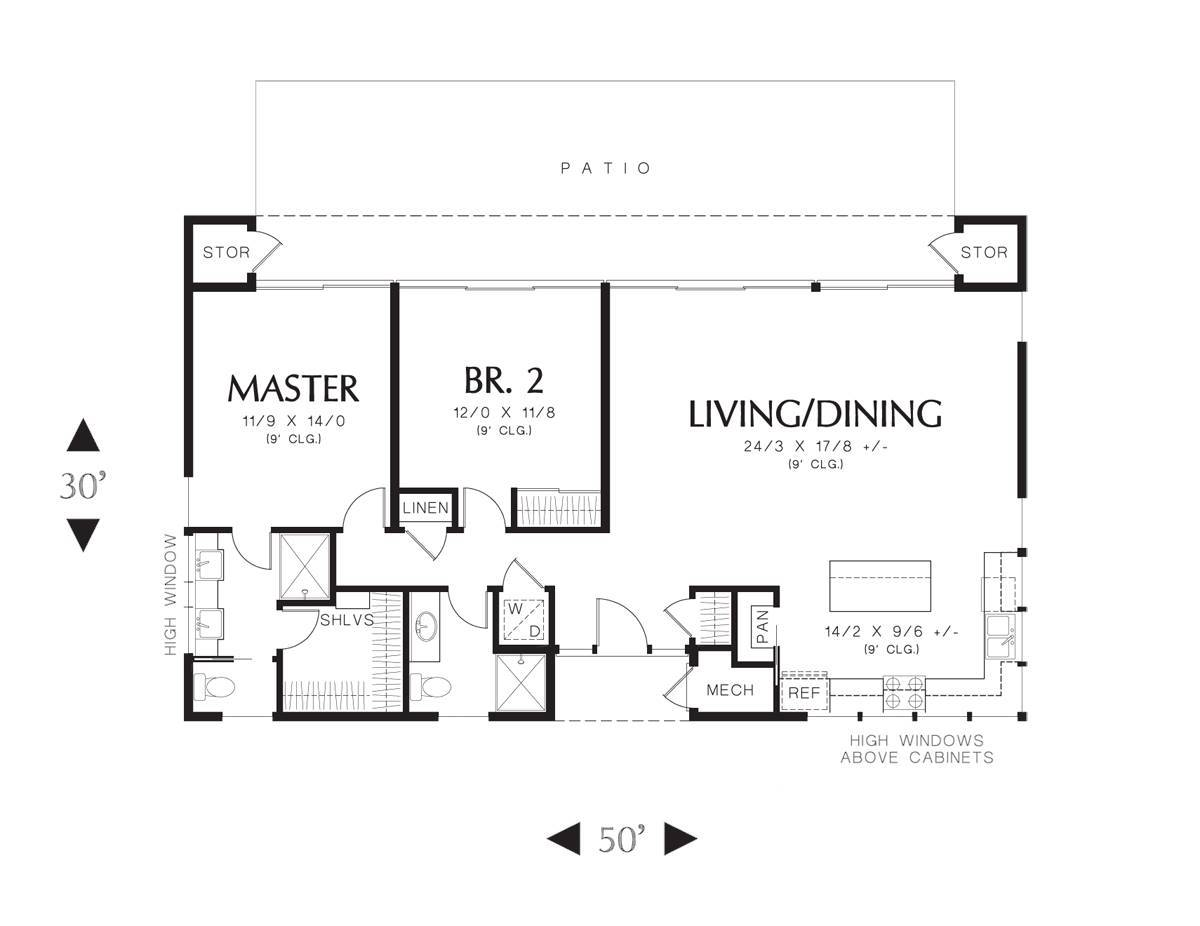 Main Floor Plan image of Featured House Plan: BHG - 6053