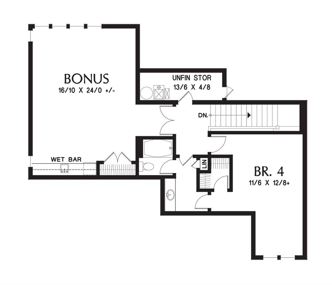 Upper Floor Plan image of Featured House Plan: BHG - 6054
