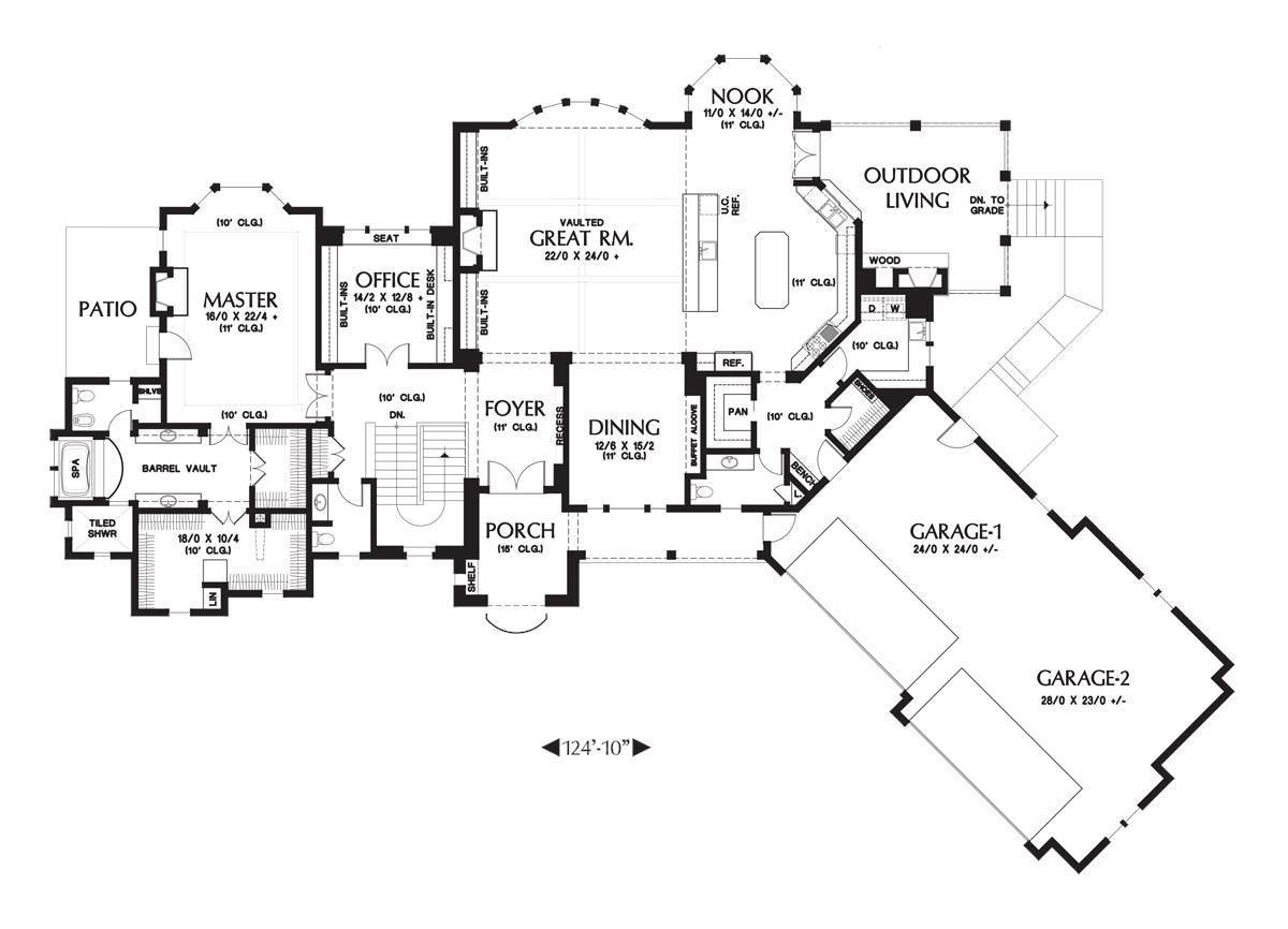 Main Floor Plan image of Featured House Plan: BHG - 6059