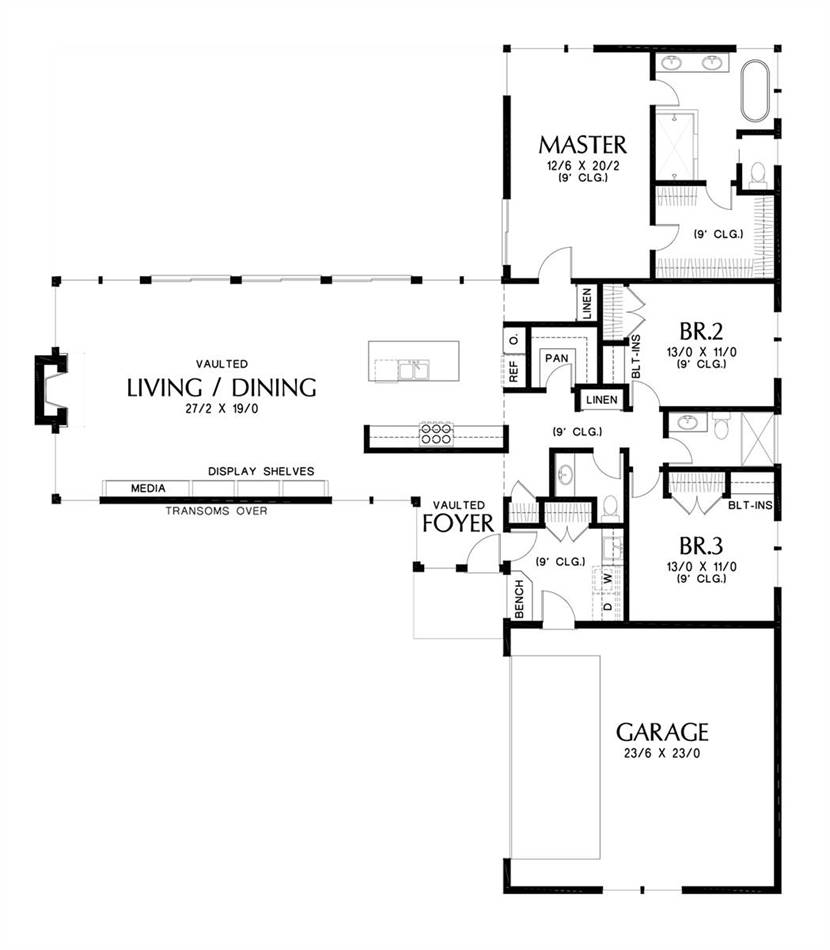 Main Floor Plan image of Featured House Plan: BHG - 7213