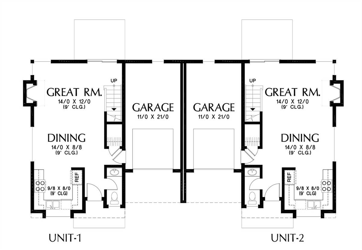 Main Floor Plan image of Featured House Plan: BHG - 7224