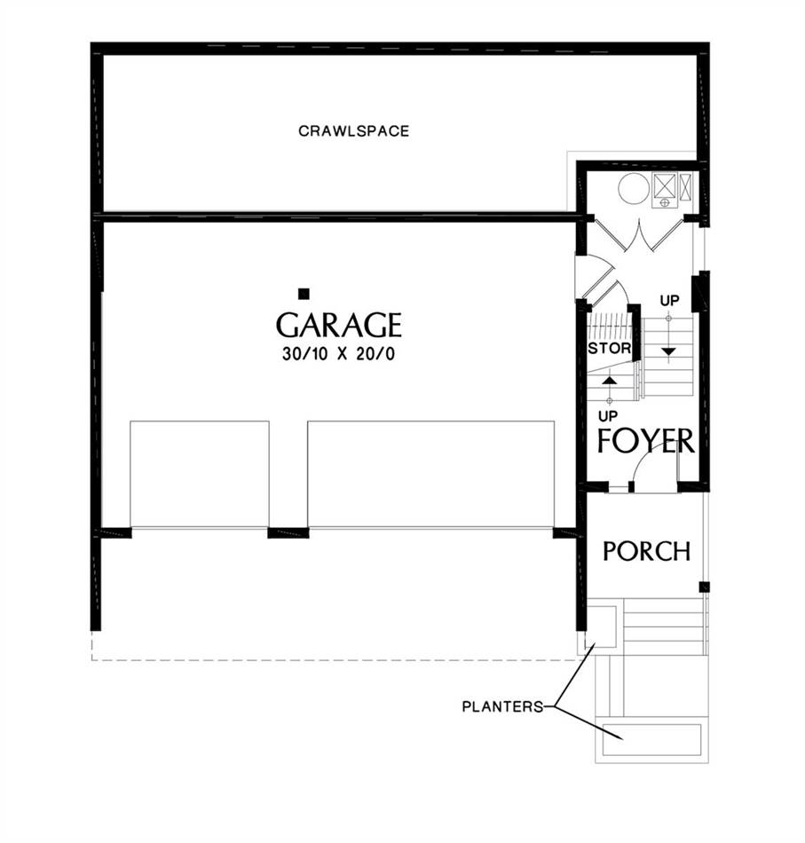 Lower Floor Plan image of Featured House Plan: BHG - 7230