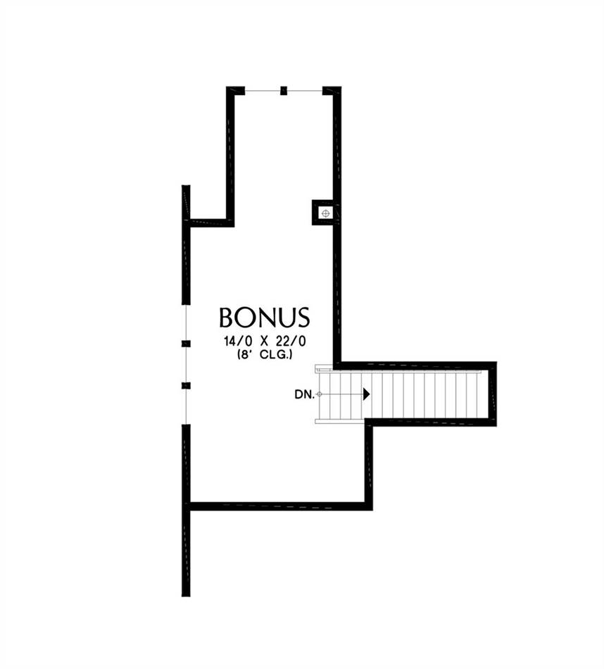 Upper Floor Plan image of Featured House Plan: BHG - 7239