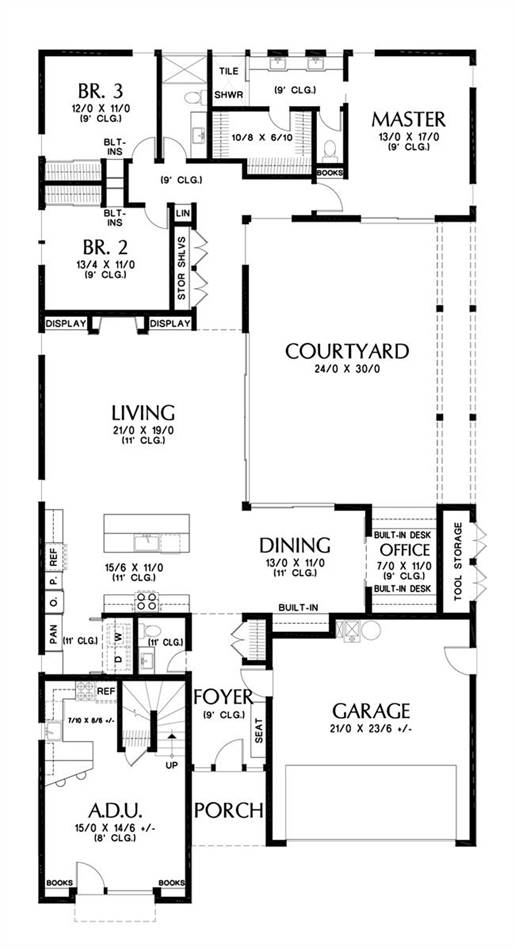 Main Floor Plan image of Featured House Plan: BHG - 7243