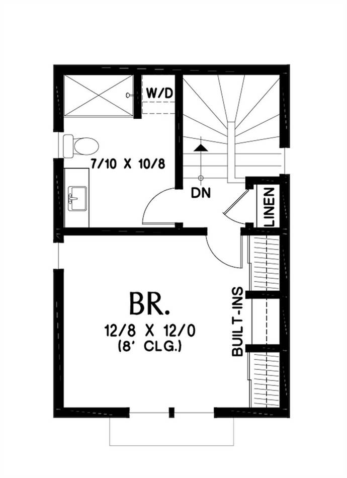 Upper Floor Plan image of Featured House Plan: BHG - 7243