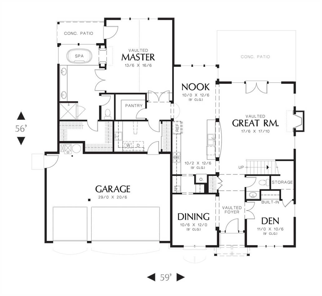 Main Floor Plan image of Featured House Plan: BHG - 7245