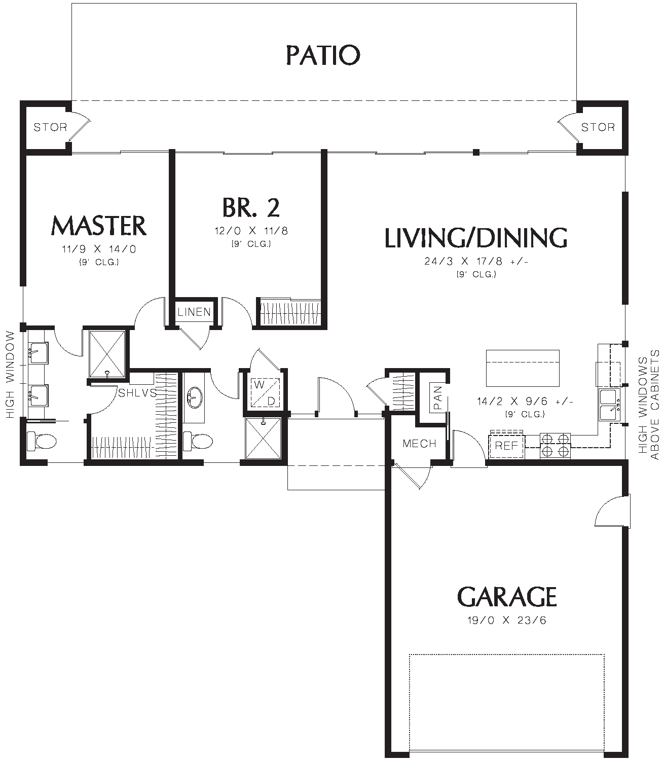 1st Floor Plan image of Featured House Plan: BHG - 1632