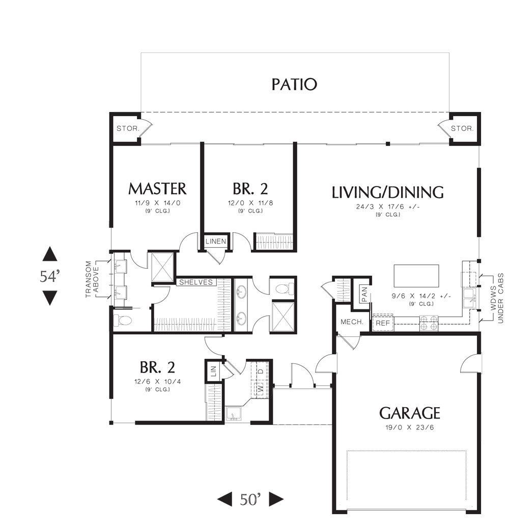 First Floor Plan image of Featured House Plan: BHG - 4877