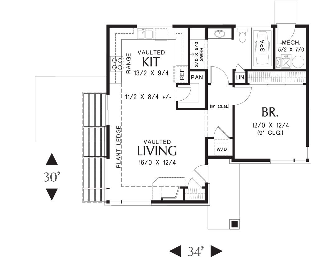 First Floor Plan image of Featured House Plan: BHG - 5178