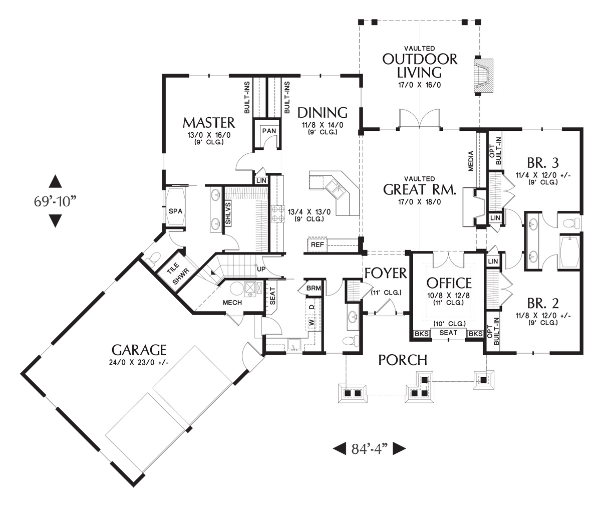 First Floor Plan image of Featured House Plan: BHG - 5180
