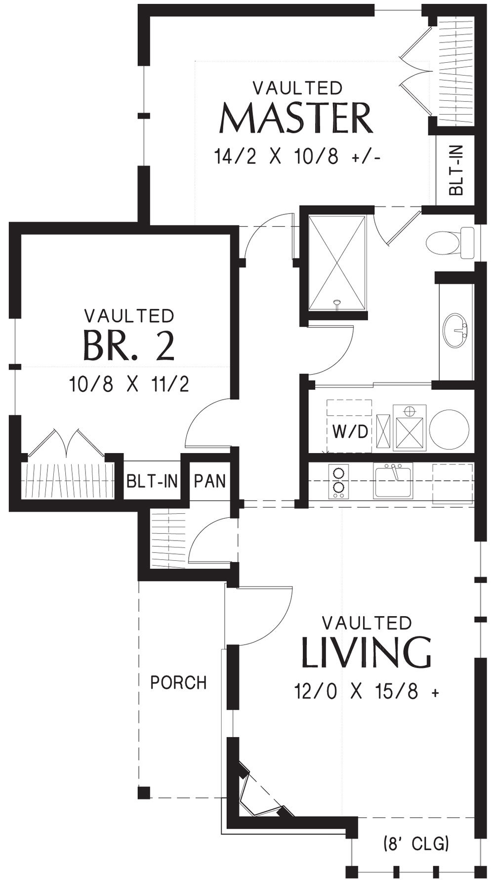 1st Floor Plan image of Featured House Plan: BHG - 9212