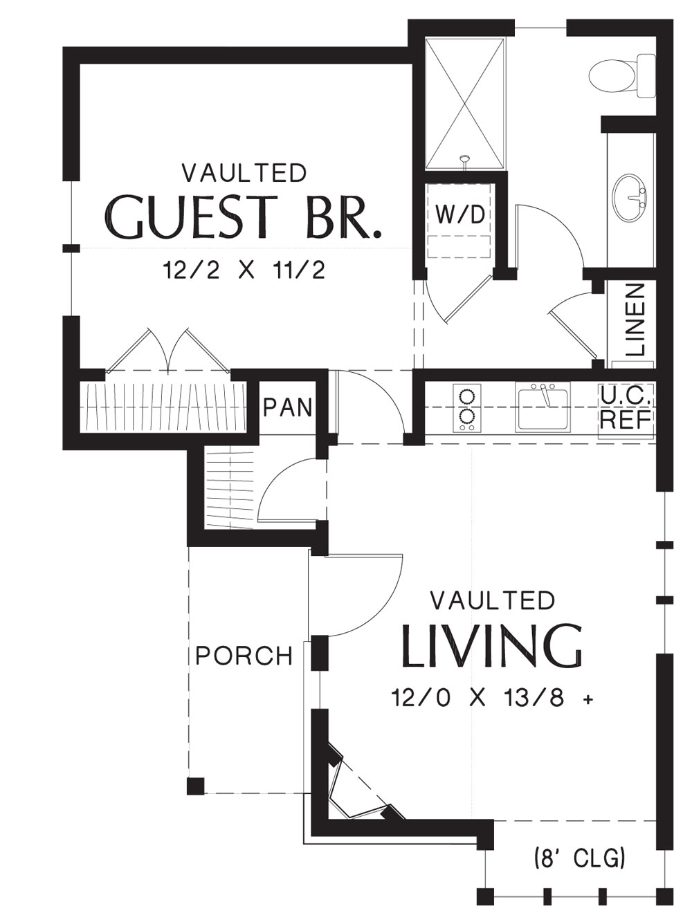 1st Floor Plan image of Featured House Plan: BHG - 9118