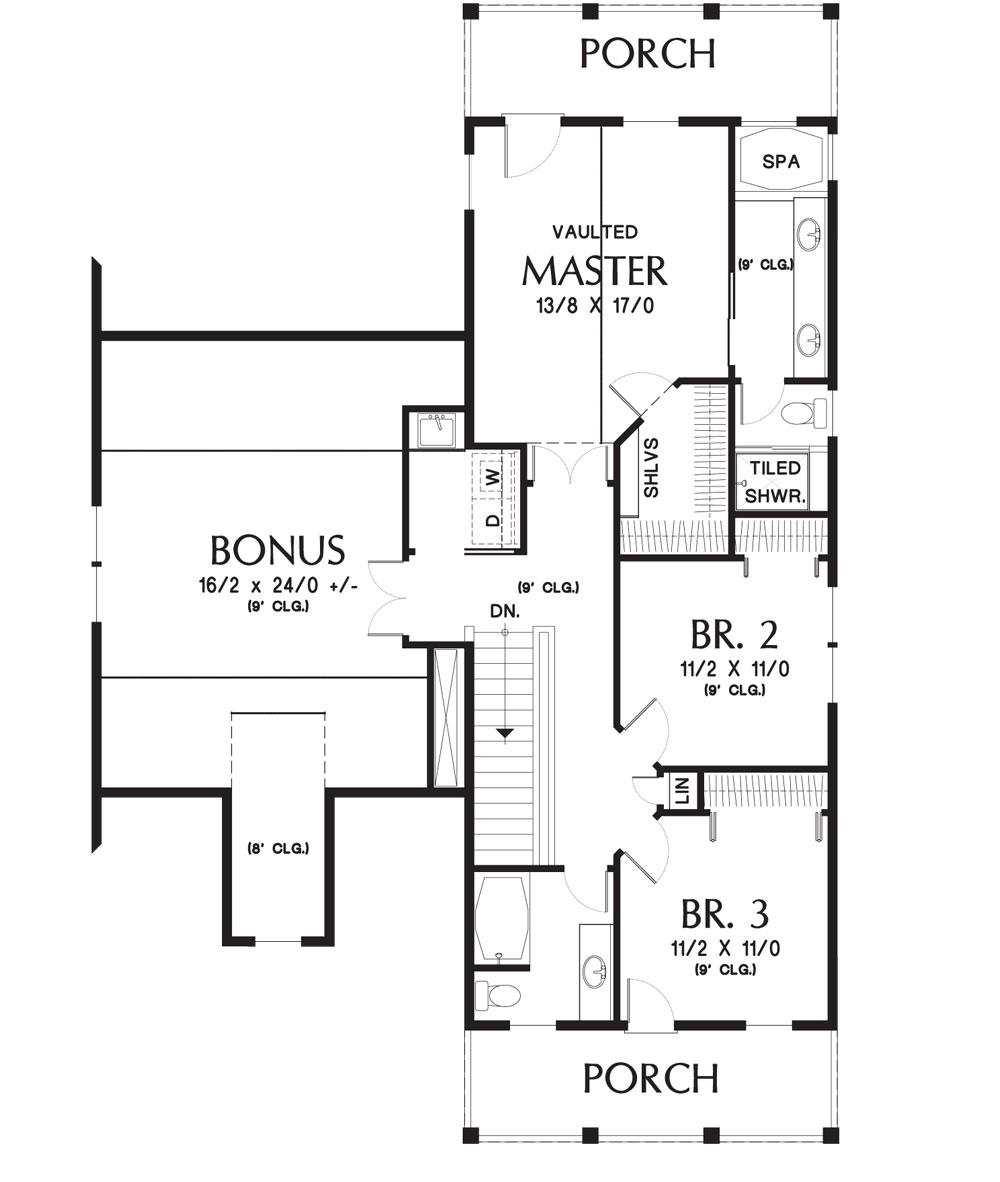 Second Floor Plan image of Featured House Plan: BHG - 4064