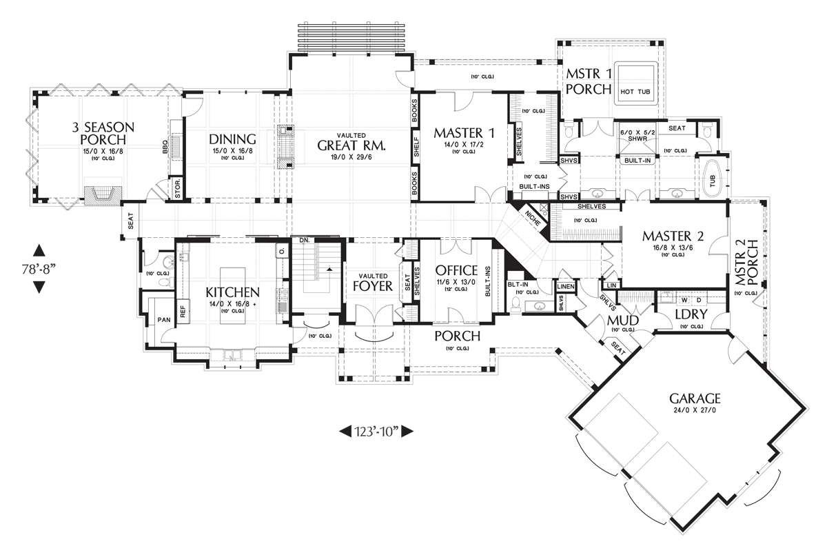 Main Floor Plan image of Featured House Plan: BHG - 4298