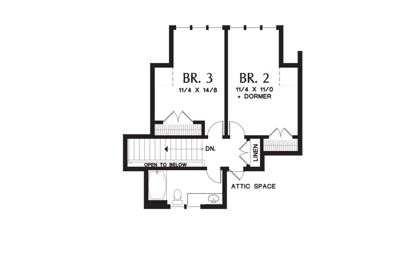 2nd Floor Plan image of Featured House Plan: BHG - 9121