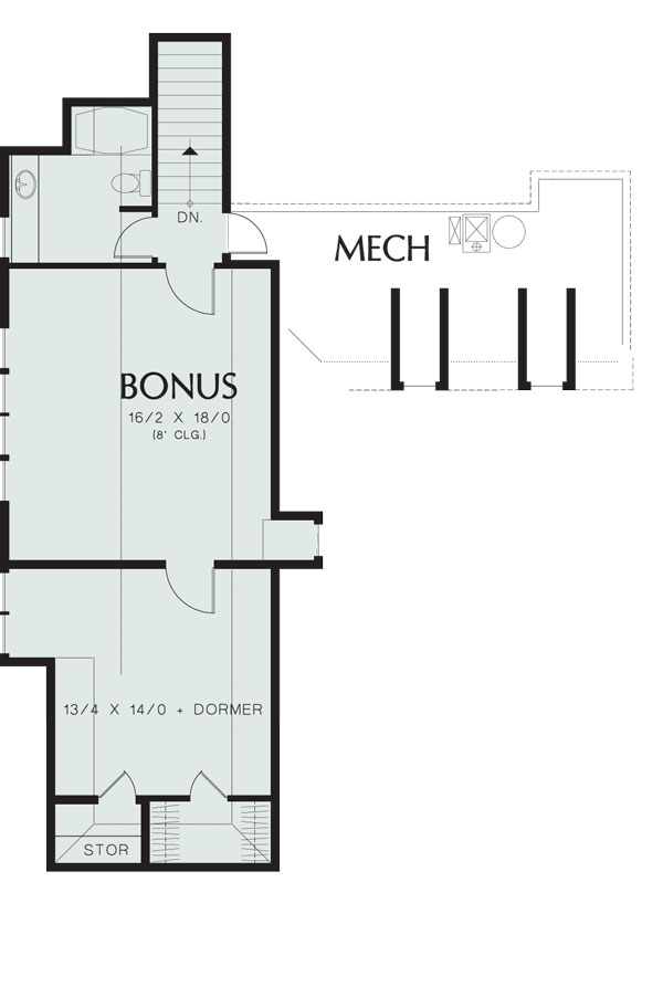 Second Floor Plan image of Featured House Plan: BHG - 8292
