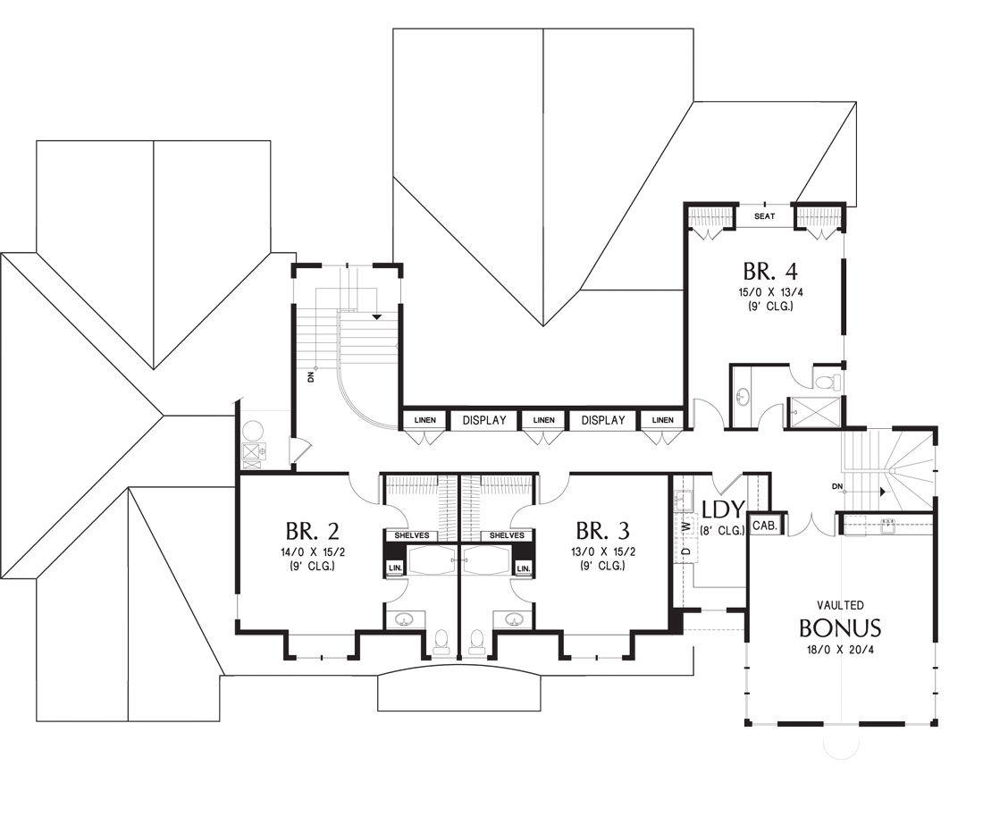 2nd Floor Plan image of Featured House Plan: BHG - 5202
