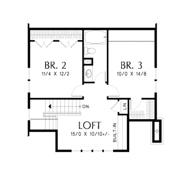 2nd Floor Plan image of Featured House Plan: BHG - 5188