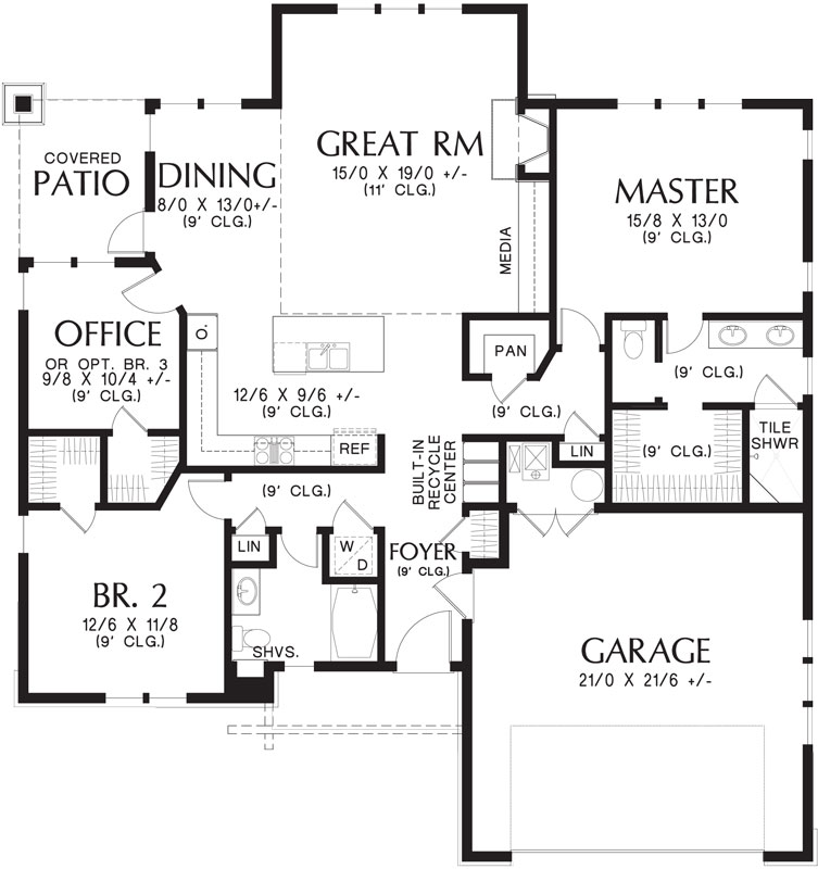 1st Floor Plan image of Featured House Plan: BHG - 4272
