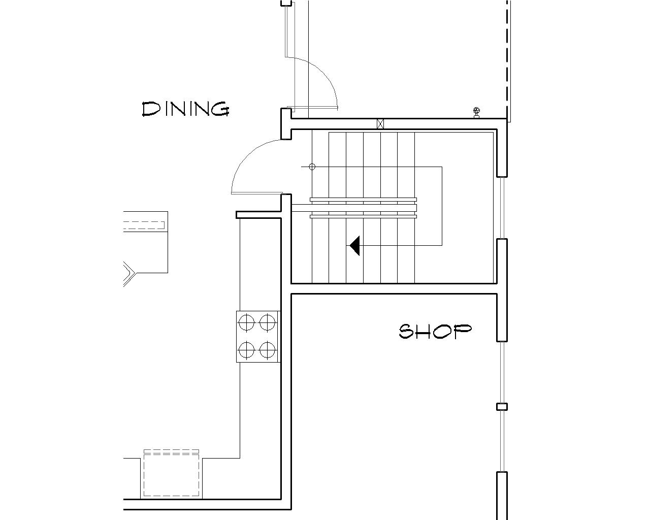Basement Stair Location image of Featured House Plan: BHG - 5137